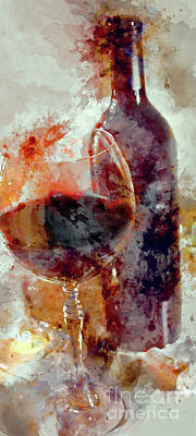 Wine Oil Painting - Love The Reds by Jon Neidert