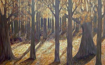 Painting - Love The Trees In The  Fall  by Joy Fahey
