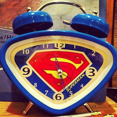Comics Wall Art - Photograph - Superman Clock by Joan McCool