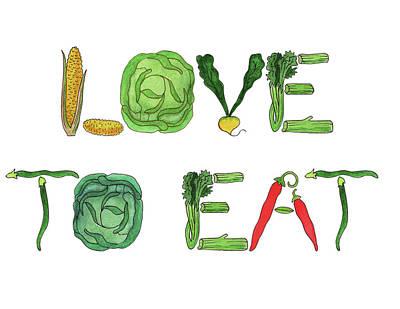 Painting - Love To Eat Food Illustration by Irina Sztukowski