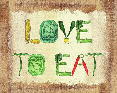 Painting - Love To Eat  by Irina Sztukowski