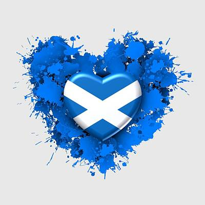 Flag Digital Art - Love To Scotlad Is Love by Alberto RuiZ