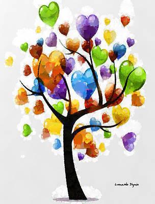 Toy Digital Art - Love Tree 3 - Da by Leonardo Digenio