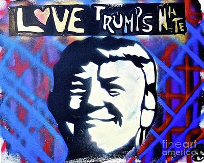 Conscious Painting - Love Trumps Hate by Tony B Conscious