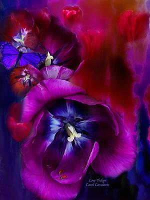 Tulips Mixed Media - Love Tulips by Carol Cavalaris