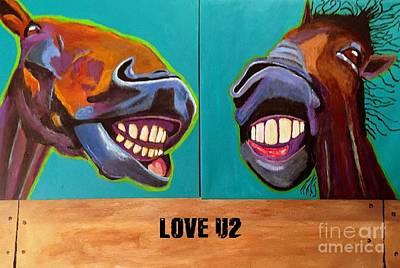 Love U2 01 Art Print by Aat Kuijpers