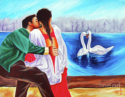Painting - Love Undefined by Ragunath Venkatraman