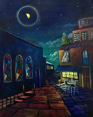 Painting - Love Under A Three Quarter Moon by Randy Burns