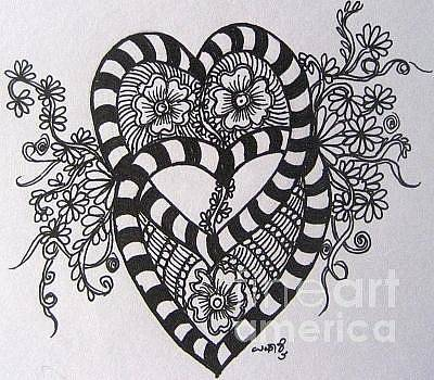 Drawing - Love by Usha Rai