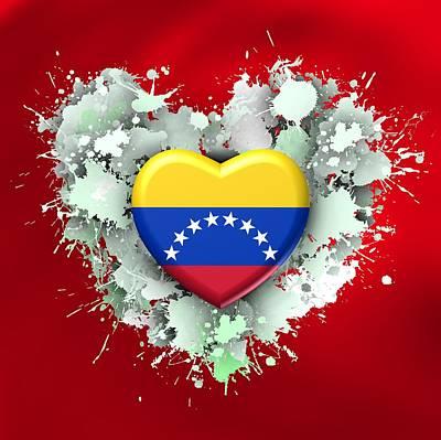 Stain Digital Art - Love Venezuela by Alberto RuiZ
