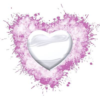 Love Digital Art - Love White Heart by Alberto RuiZ