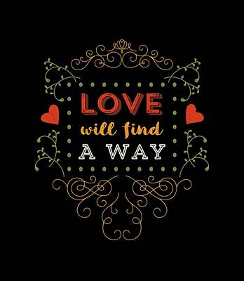 Love Will Find A Way Art Print by Antique Images