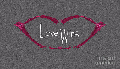 Digital Art - Love Wins by Charlie Cliques