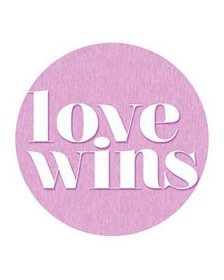 Love Mixed Media - Love Wins by Studio Grafiikka