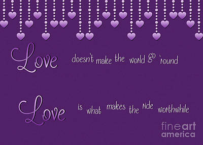 Digital Art - Love Worthwhile by JH Designs
