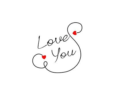 Love You Art Print by Bri Lou