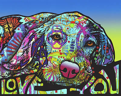 Beagle Wall Art - Painting - Love You Hound by Dean Russo Art