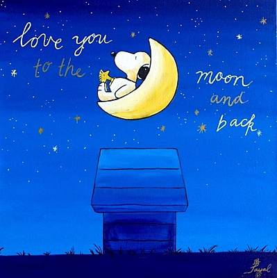 Painting - Love You To The Moon And Back by Artistic Indian Nurse
