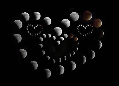 Eclipse Photograph - Love You To The Moon And Back by Betsy Knapp