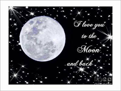 Love You To The Moon And Back Art Print by Michelle Frizzell-Thompson