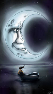 Man In The Moon Digital Art - Love You To The Moon  by Susan  Rossell