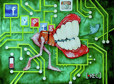 Smile Mixed Media - Love Your Selfie by Kim Collins