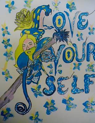 Mixed Media - Love Yourself by Nicole Burrell