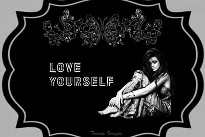 Digital Art - Love Yourself by Wesley Nesbitt