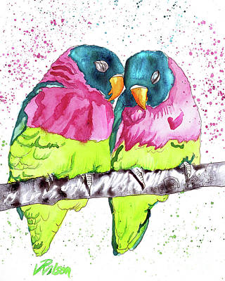 Painting - Lovebirds by D Renee Wilson