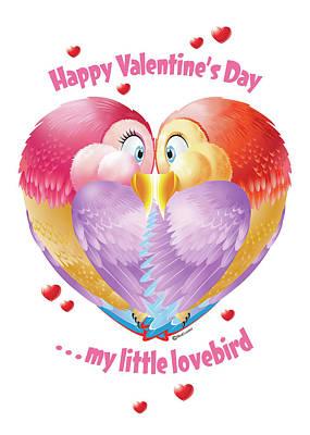 Lovebird Digital Art - Lovebirds by Ned Levine