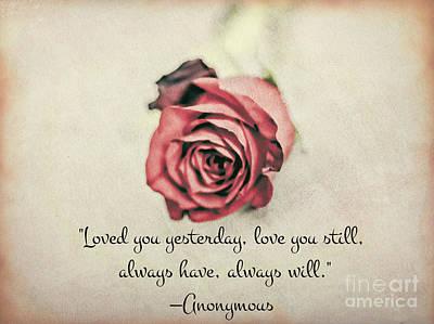 Loved You Yesterday Valentine Original by Chellie Bock