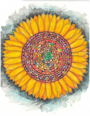 Painting - Loveing Sunflower Mandala by Jeanette Clawson