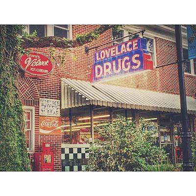 Downtown Photograph - Lovelace Drugs #enlight #downtown by Joan McCool