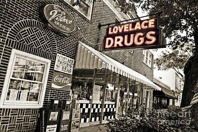 Pellegrin Photograph - Lovelace Drugs by Scott Pellegrin