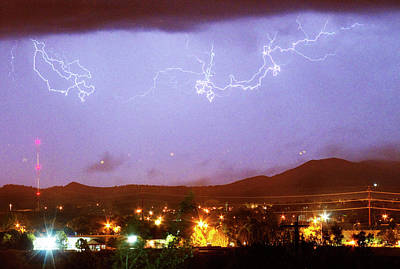 Loveland Colorado Front Range Foothills  Lightning Thunderstorm Art Print