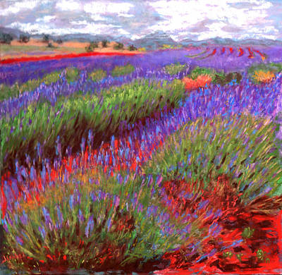 Wall Art - Pastel - Lovelock's Lavender by Laura Gabel