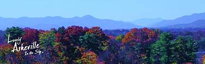 Michelle Obama Digital Art - Lovely Asheville Fall Mountains by Ray Mapp