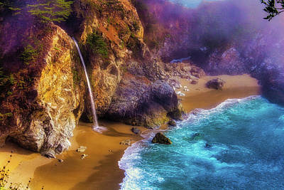 Coast Highway One Photograph - Lovely Big Sur Falls by Garry Gay