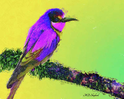 Digital Art - Lovely Bird by MS  Fineart Creations
