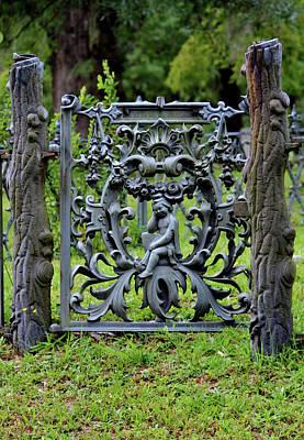 Photograph - Lovely Cemetery Gate by Cynthia Guinn