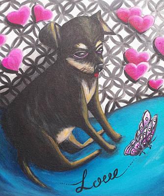 Lovely Chihuahua Puppy  Art Print by Beryllium Canvas