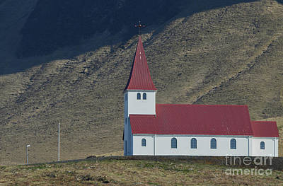 Photograph - Lovely Christian Chapel In The Village Of Vik In Iceland by DejaVu Designs