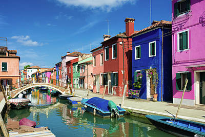 Photograph - Lovely Colored Houses In Burano Venice by Matthias Hauser