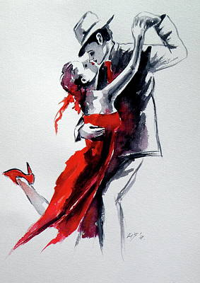 Painting - Lovely Dance II by Kovacs Anna Brigitta