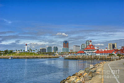 Photograph - Lovely Day Long Beach by David Zanzinger