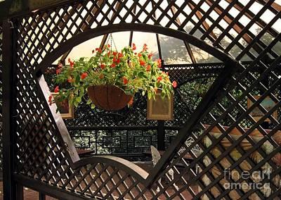 Lovely Garden Terrace Art Print by Yali Shi