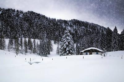 Flurries Photograph - Lovely German Winter In Snow Flurry  by Melanie Viola