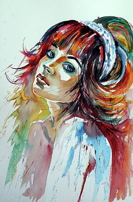 Painting - Lovely Girl II by Kovacs Anna Brigitta