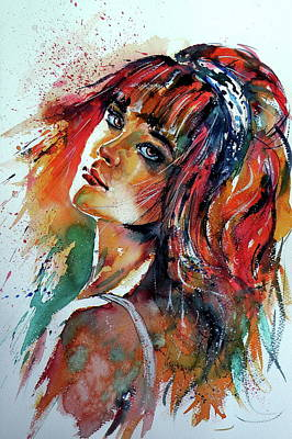 Painting - Lovely Girl IIi by Kovacs Anna Brigitta