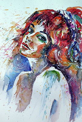 Painting - Lovely Girl Iv by Kovacs Anna Brigitta